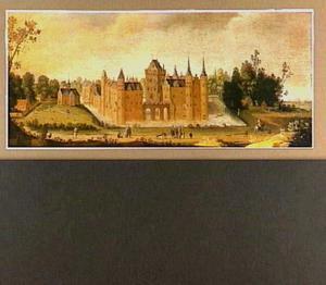 Gezicht op het kasteel van Egmond aan den Hoef