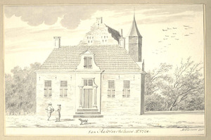 Huis Hakvoort te Barneveld anno 1730