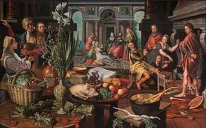 Christus in het huis van Martha en Maria (Lucas 10:38-42)