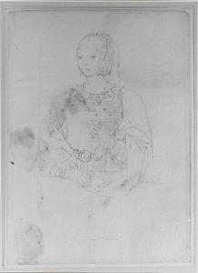 Portret van Isabella van Habsburg (1501-1526), koningin van Denemarken