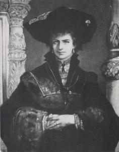 Portret van de keizerin Elisabeth van Oostenrijk in Renaissance kleding