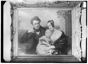 Portret van Bruno Arntzenius (1804-1877), Adriana Gerarda Boudewina van der Meersch (1814-1873) en hun zoon Robert Hendrik Johan Frans (1836-1840)