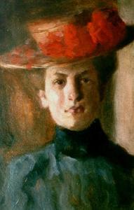 Zelfportret van Lizzy Ansingh (1875-1959)