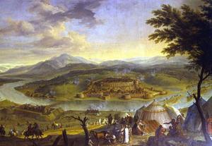 De verovering van de vesting Gran  door Poolse en Oostenrijkse troepen op de Turken op  9  oktober 1683