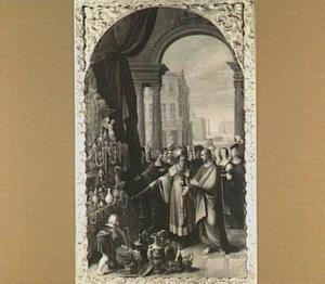Croesus toont Solon zijn schatten