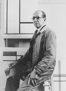 Mondriaan in zijn atelier