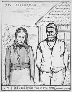 Boer en boerenvrouw uit Bjerkreim