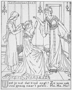 Illustratie uit 'Asschepoester'