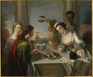 Allegorie op de vijf zintuigen: de smaak