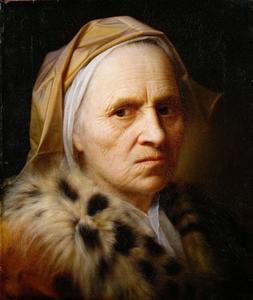 'Tronie' van een oude vrouw