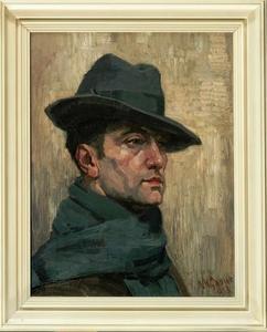 Zelfportret van Herman Gouwe (1875-1965)