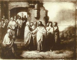 Christus geneest de blinde van Jericho