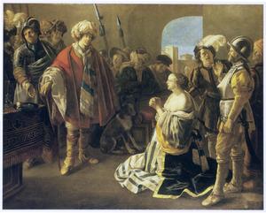 De Byzantijnse keizer Theodosius confronteert zijn vrouw Athenaïs met haar vermeende overspel