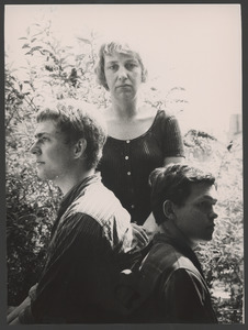 Mark Brusse, Lotti van der Gaag en Winnie (?), Chantilly