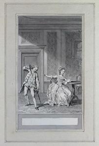 Illustratie bij 'De zelfmoord' uit de Fabelen en vertelsels van F.C. Gellert
