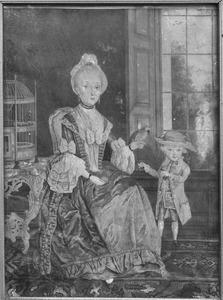 Dubbelportret van Anna Emmius (1730-1801) en haar stiefzoon Servaas Helenus van der Kloot (1765-1784)