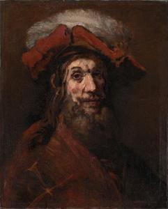Man met gepluimde baret