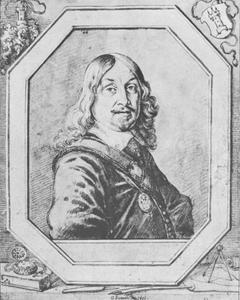 Portret van Georg Philipp Harsdörffer, dichter en raadsheer te Straatsburg en Neurenberg (1607-1658)