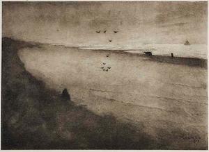Strandgezicht (avond)