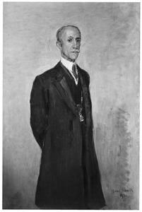 Portret van Jacob Adriaan Nicolaas Patijn, burgemeester van Den Haag in de jaren 1918-1930