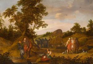 De doop van de kamerling door de apostel Philippus (Handelingen 8:38-39)