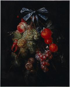 Festoen met fruit en pepers