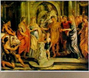 De huwelijken van Constantijn en Fausta en van Constantia en Licinius