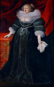 Portret van Sophia Hedwig von Braunschweig-Wolfenbüttel (1592-1642)