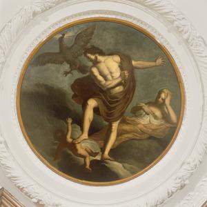 Jupiter vertoornd op Vulcanus