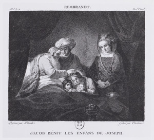 Jacob bénit les enfans de Joseph