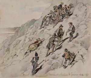 Montant le Vesuve
