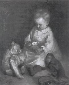 Kindje met speelgoed