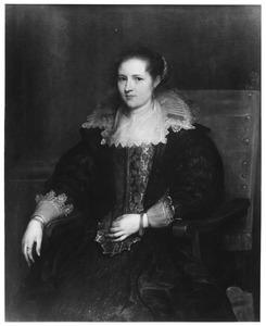 Portret van Isabella van Waerbeke (?-1660), echtgenote van Pauwels de Vos (?-1678)