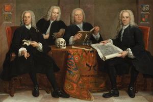 Portret van vier overlieden van het Chirurgijnsgilde