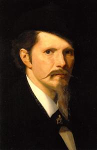 Zelfportret van Piet Slager sr. (1841-1912)