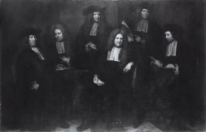 Groepsportret van de regenten van het Spin- en Nieuwe Werkhuis te Amsterdam, 1699