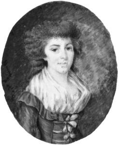Portret van Johanna Louisa Frederica (von) Pittius (1763-1823)