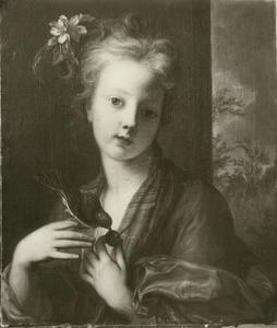 Meisje met een vogel