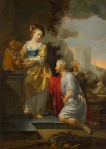 Rebecca en Eliëzer bij de bron (Genesis 24:18-19)
