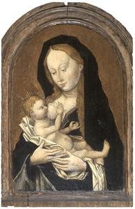 Maria met kind aan de borst drinkend