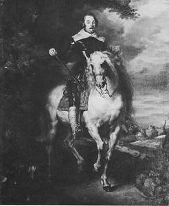 Ruiterportret van François de Moncada, graaf van Ossuna en Markies van Aytona, generaal der Spaanse troepen in de Zuidelijke Nederlanden