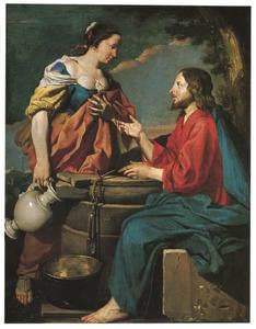 Christus aan de bron met de vrouw van Samaria