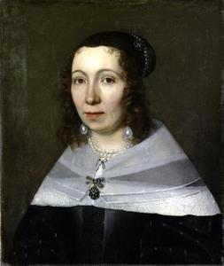 Portret van een vrouw genaamd Maria Sibylla Merian (1647-1717)