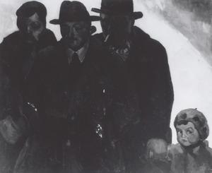 Portret van Toon Kelder (1894-1973), Alexa Gortmans (1903-1980) en Albert Piet Kelder (1925-?)