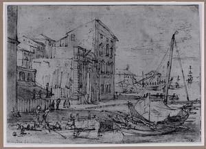 Zuidelijke havenstad met boten