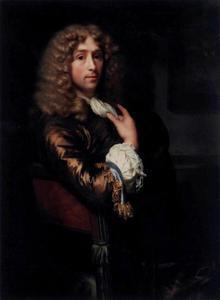 Zelfportret van Godefridus Schalcken (1643-1706)