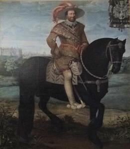 Ruiterportret van Johann Albrecht II, Hertog van Mecklenburg