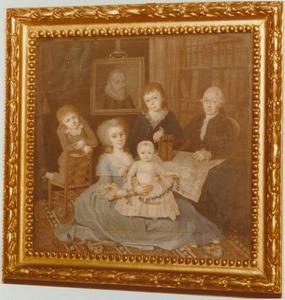 Familieportret van Lodewijk Hovy (1740-1822), Clara Susanna Hasselaer (1750-1826) en hun kinderen