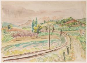 Spoorlijn in de Provence