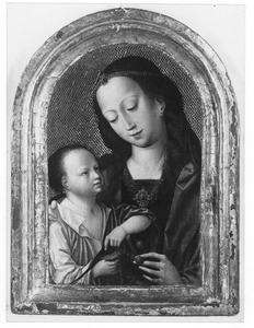 Maria met kind en vogel en kersen